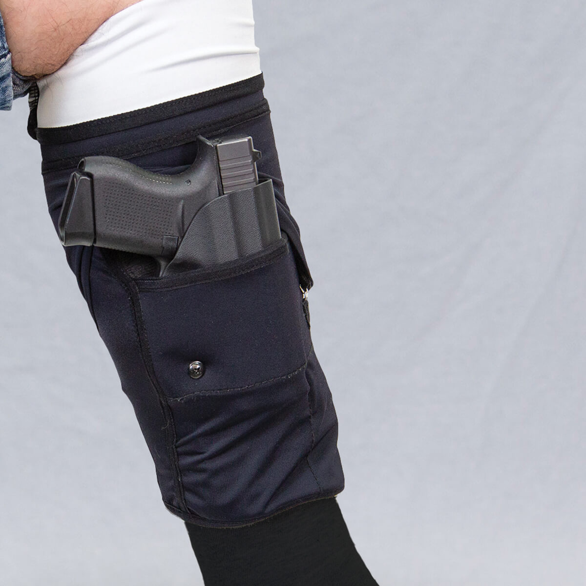 470744_Mid-Calf_Gun-Sox-Pro_Retention-flap-pulled_Side-view_Front-Cover